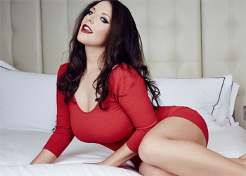 Angela White Red Dress