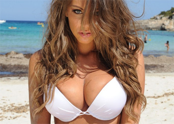 Emma Frain Topless Beach