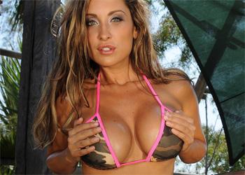 Jessica Canizales String Bikini