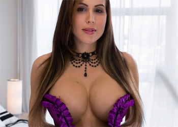 Katie Banks Purple Corset