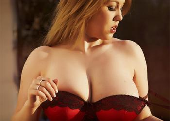 Lyla Ashby Red Stockings