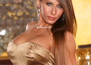 Madison Ivy Gold Dress
