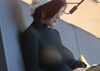 Exposed Redhead In Public