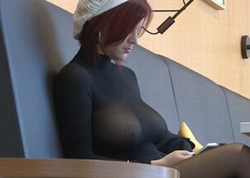 Busty Redhead Sheer