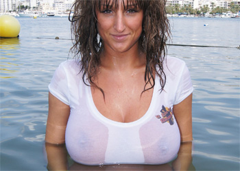 Stacey Poole Wet Boobs