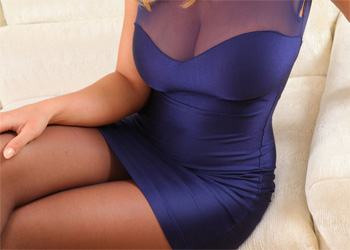 Stacey Poole Silky Purple Dress