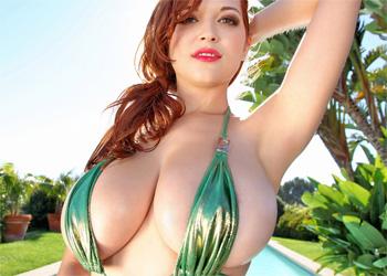 Tessa Fowler Shiny Bikini Pinup